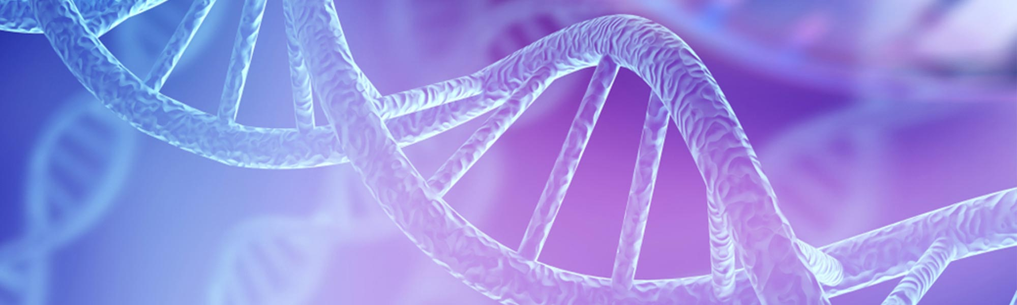Blue DNA structure isolated background