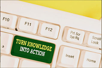 Turn knowledge into action on keyboard