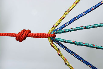 Ropes tied together